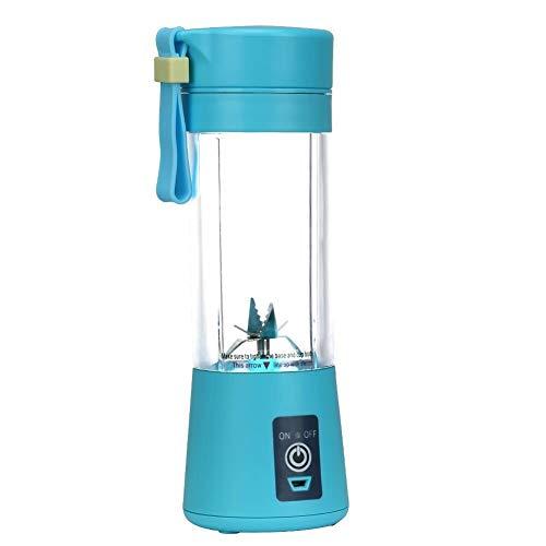 Panoeagle - Extractor y mezclador de zumo de frutas portátil  de 380 ml con USB recargable y 6 cuchillas...