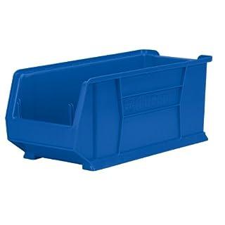 akro-mils 3028424D by-W von Bluetooth H CLEAR Super Größe Kunststoff stapelbar akrobin, 4er Pack, 30284BLUE