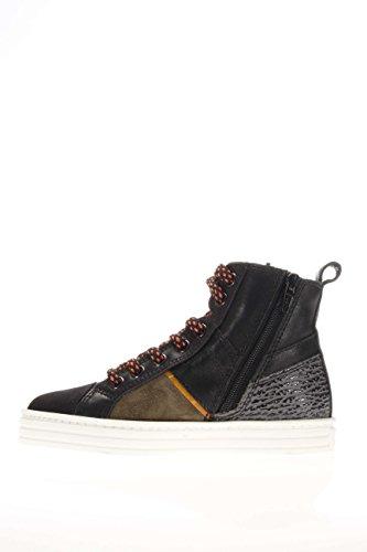 Hogan Rebel Junior Enfant Sneaker haute hxc1410u771e7h0s1R141Mid Cut Zip Foresta