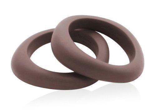Preisvergleich Produktbild Jellystone-Design: asymetrischer Armreif als Beißring, mitternachtsblau