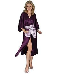 Silk Cocoon las Mujeres Bata Pura seda-A24