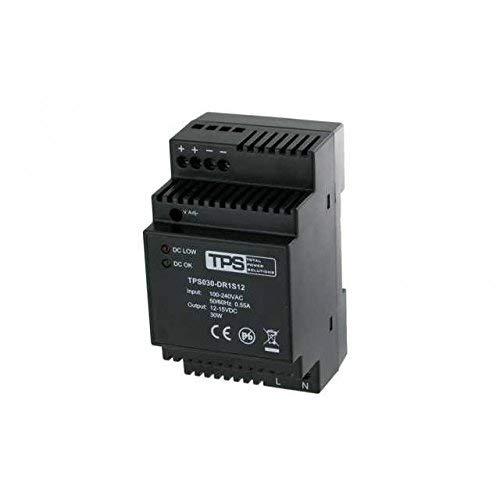 TDR30-12VK Hutschienen-Netzteil/DIN Rail power supply, stabilisiert, 12V-15V, 30W - TPS Elektronik