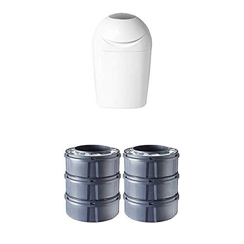 Tommee Tippee Sangenic Tec - Set básico de contenedor de pañales + 7 recambios (blanco)