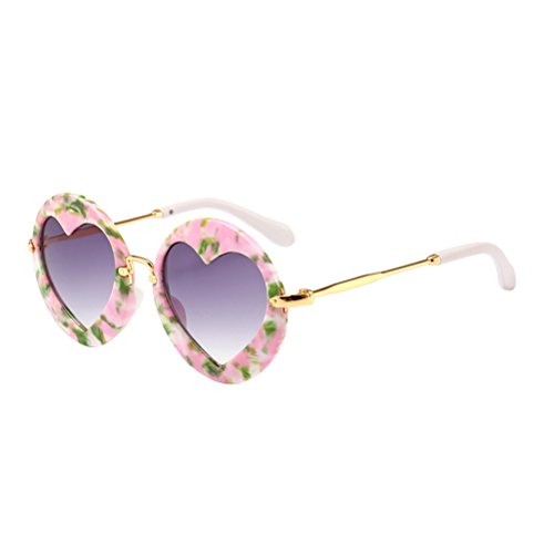 (Zhhlaixing Mode Runde Rahmen Jungen Mädchen Kinder Sonnenbrille Party Favors 5-15 Jahre Alt UV Schutz)
