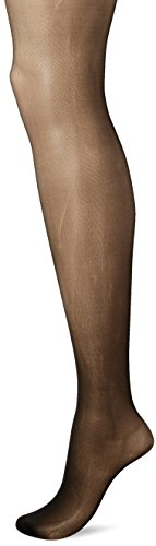 L'eggs Silken Mist Control Top Semi-Opaque Leg, Enhanced Toe Pantyhose A Black (Schiere Leggs)