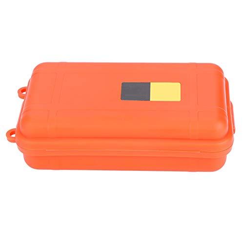 Alomejor Caja de Almacenamiento de Supervivencia en seco Caja a Prueba de Polvo a Prueba de presión Equipo de Supervivencia en el Exterior Caja de contenedor Sellado para Supervivencia (Orange Big)