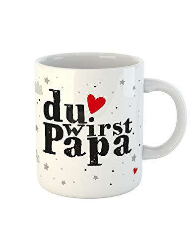 clothinx Kaffee-Tasse mit Aufdruck Geburt Du wirst Papa (Halloween-geschenkideen Für Enkelkinder)