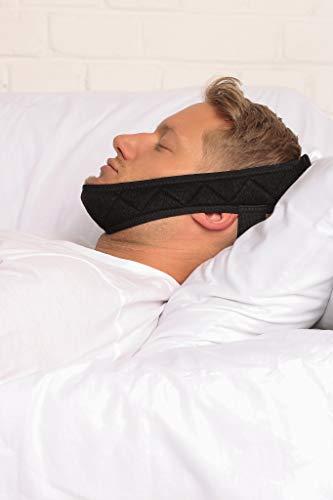 BeFit24 Anti-Schnarch Kinnriemen für Männer | Hochwertiges, leicht zu tragendes und verstellbares Design | Hergestellt in EU aus hautfreundlichem und atmungsaktivem Material