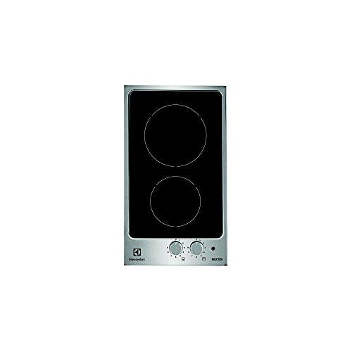 Electrolux EHH3920IOX plaque - plaques (Intégré, induction, Verre, Noir, Acier inoxydable, Rotatif, En haut devant)