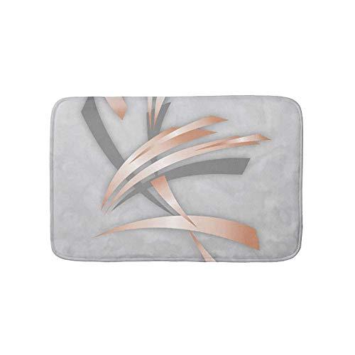 Zhengzho Rosa Oro Gris Arte Abstracto mármol Felpudo
