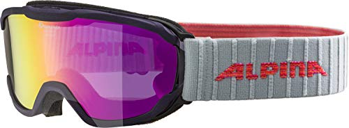 ALPINA Kinder Pheos MM' Skibrille, Purple, One Size