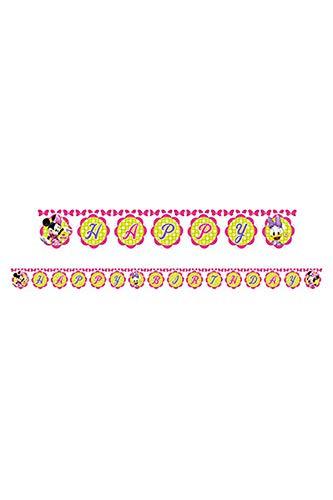 Disney, Geburtstagswimpel, Minnie-Mouse-Design, 2,2m