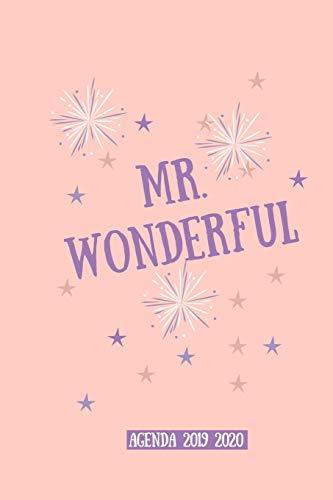 Mr. wonderful agenda 2019 2020: Agenda scuola, Agenda Università, Agenda settimanale, Diario scolastico, Agenda giornaliera, calendario, programma ... planner, orario lezioni,organizer
