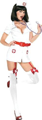 Nurse Kostüm - XL - Weiß/Rosa - 83246 (Naughty Nurse Dessous)
