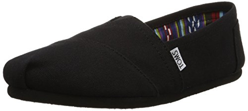 TOMS Damen Alpargata Espadrilles, Schwarz On Black Canvas 001, 40 EU - Espadrilles Canvas Schuhe