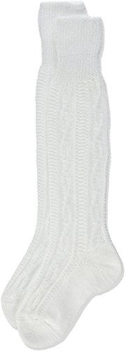 Lusana Jungen Kniestrümpfe Kinder-Kniebundstrumpf aus Baumwolle Weiß (Weiß 26), One Size (Herstellergröße: 20-23)