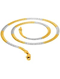 Dare Men'S Dual Tone Plated Brass Snake Chain