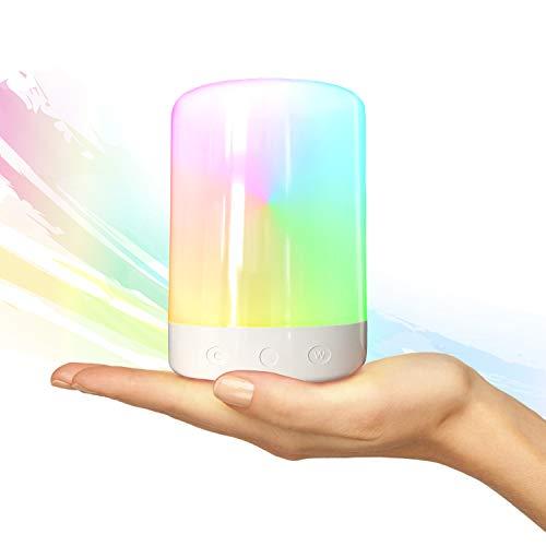 BlazeFlow Lámpara Escritorio Inalámbrica - Luces Led Blancas Regulable o Con Color