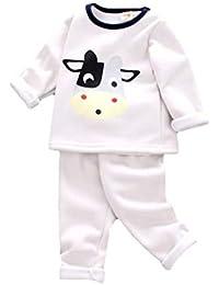 Juqilu Conjunto de Pijamas de bebés y niños Conjunto de Pijamas de Pijama de Oso Polar