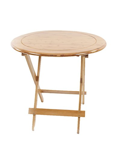 Table Pliante Simple Table d'apprentissage Table Ronde Pliante Portable d'extérieur Bambou