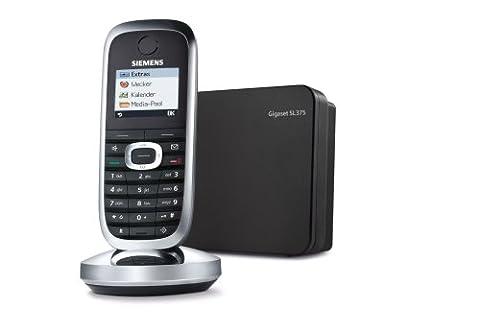 Siemens Gigaset SL375 DECT Schnurlostelefon mit Anrufbeantworter Bluetooth und Picture CLIP schwarz/chrom