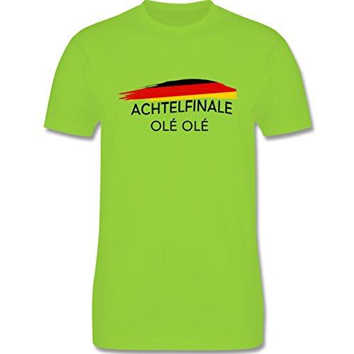 EM 2016 - Frankreich - Deutschland Achtelfinale Olé Olé - Herren Premium T-Shirt Hellgrün