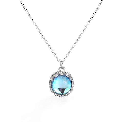 TAIZHIZHUANG Traum S925 Reine Silber Blau Traum Vogel Halskette, Blau Kristall Mondstein Anhänger Handgefertigt, Geschenke, Schmuck Durchschnittlicher Code pro -