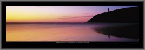 1art1 John Lawrence Poster Kunstdruck und MDF-Rahmen - Yaquina Head Lighthouse, Oregon (95 x 33cm) (Head Yaquina)