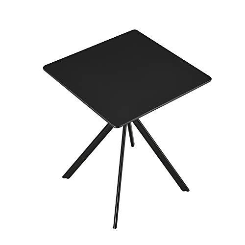 [en.casa] Esstisch - Schwarz 60x60x75cm - Küchentisch Esszimmertisch Besprechungstisch Konferenz-Tisch - Kompakter Esstisch