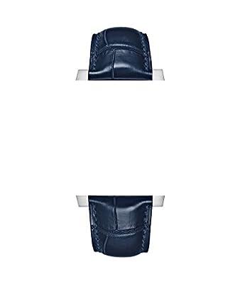 22/18mm reloj correas de cuero azul/azul estilo cocodrilo con azul costura para Tag Heuer