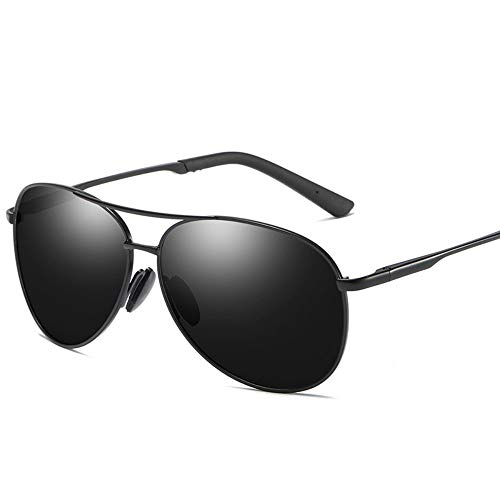 MoHHoM Sonnenbrille,Mode New Classic Polarisierte Sonnenbrillen Herren Retro Sonnenbrille Uv 400 Schwarz