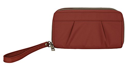 travelon-signature-pleated-double-zip-clutch-cayenne-one-size