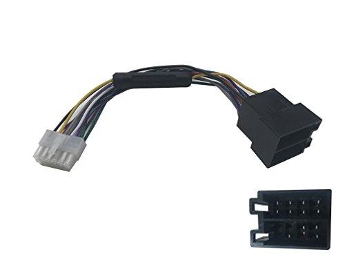 takestop® Kabel Adapter Anschluss ISO 12pin Kabelbaum für autoradio Radio Stereo