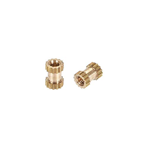 Thread Insert Kit (ZCHXD Knurled Insert Nuts, M2 x 5mm(L) x 3.5mm(OD) Female Thread Brass Embedment Assortment Kit, 30 Pcs)