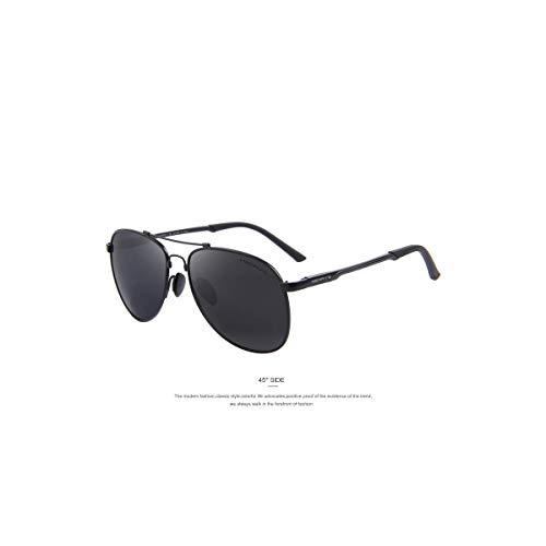 Daawqee Prämie Sonnenbrillen,Brillen, Men Classic Brand Aviation Sunglasses HD Polarized Aluminum Driving TR90 Titanium Bridge Sun Glasses S8716