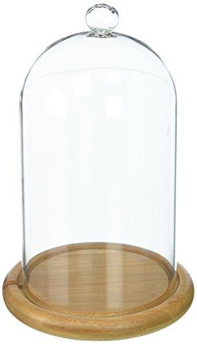 Campana de Cristal Alta 19cm con Base de Bambú de Lights4fun