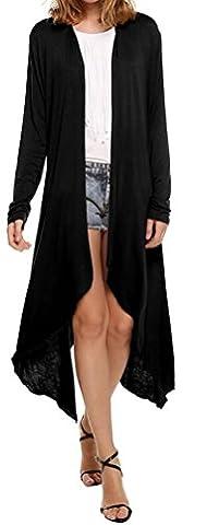 SunIfSnow - Manteau - Trench - Uni - Manches Longues - Femme noir noir Small