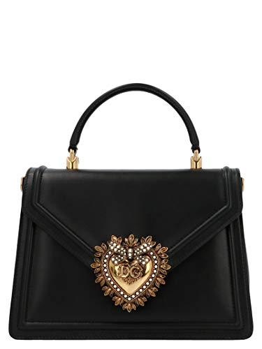 Gabbana Leder Handtasche Schwarz (DOLCE E GABBANA Damen Bb6727av89380999 Schwarz Leder Schultertasche)