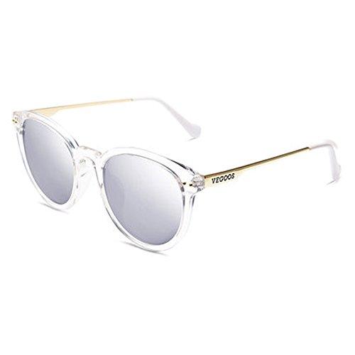 Damen Polarisierte Sonnenbrille Frauen Neue Runde Gesicht Sonnenbrille Farbe Damen Sonnenbrille,A