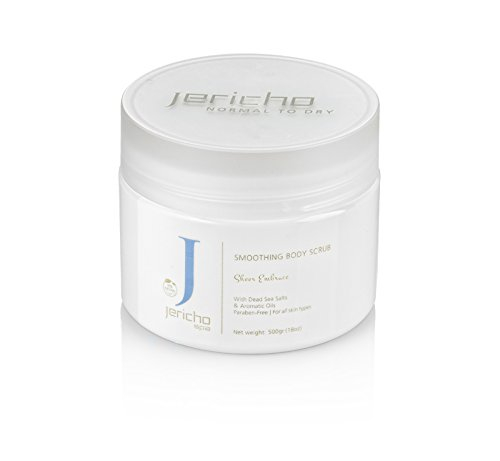 Jericho Dead Sea Smoothing Body Scrub Sheer Embrace (Kiwi-Mango) for Normal to Dry Skin 500g