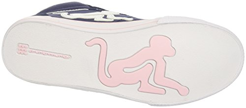 DrunknMunky Boston Classic, Chaussures de Tennis femme Blu (Navy Light/Pink)