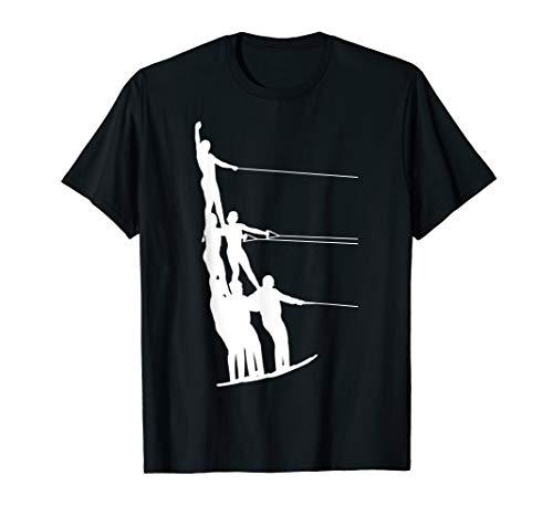 Wasserski Wasser Ski Skier Sportler Fun Sport Wassersport T-Shirt