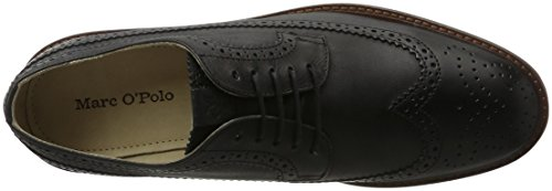 Marc O'Polo 70123773402102 Lace Up Shoe, Brogues Homme Schwarz (Black)