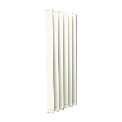 Victoria m. tenda a lamelle verticali isabella - forma a i, leggermente trasparente - 8,9 x 250 cm, bianco | pacco da 6