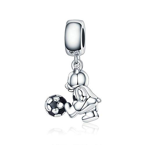 r-Anhänger Sterling Silber Perlen DIY Schmuck Armband Zubehör, der König der Athleten (SCC189) ()