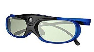 Elephas DLP Link 3D-Brille Wiederaufladbare für DLP-Projektoren Optoma, BenQ, Acer, Viewsonic , DELL, Schwarz / Blau (2016 Comfortable Version )