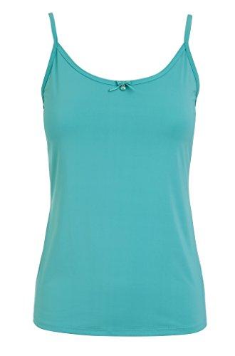 Jockey Damen Unterhemd Kunstfaser Basic-Shirt Unifarben, Größe: M, Farbe: Blau -