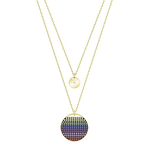 Regenbogenfarbene Halskette runde Tennisschläger Einteilige Schulter Doppel Schlüsselanhänger Kette kreativ