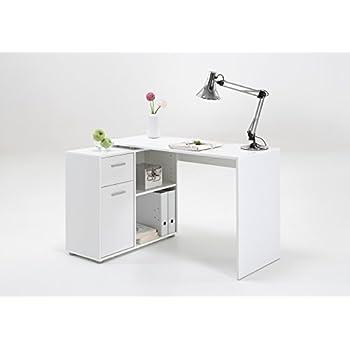 schreibtisch eckschreibtisch winkelkombination albrecht weiss fmd ca 117 x 8. Black Bedroom Furniture Sets. Home Design Ideas
