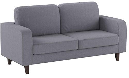 Sofa Kera 3-Sitzer, Couch 3-er, Loungesofa, Couchgarnitur, Sofagarnitur, Holzfüße, Polstersofa mit Federkern (Grau (Cosmic 160))